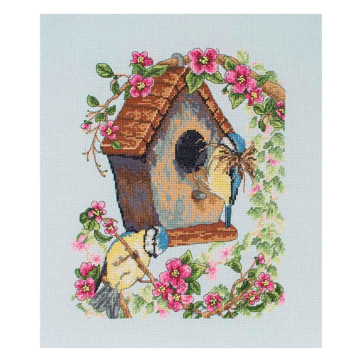 PCE742 Набор для вышивания Anchor 'Птичий домик' 25х20 см