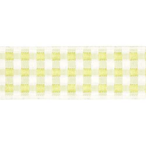 05-65102/20 Тесьма жаккардовая 20мм салат 'клеточка' ГР