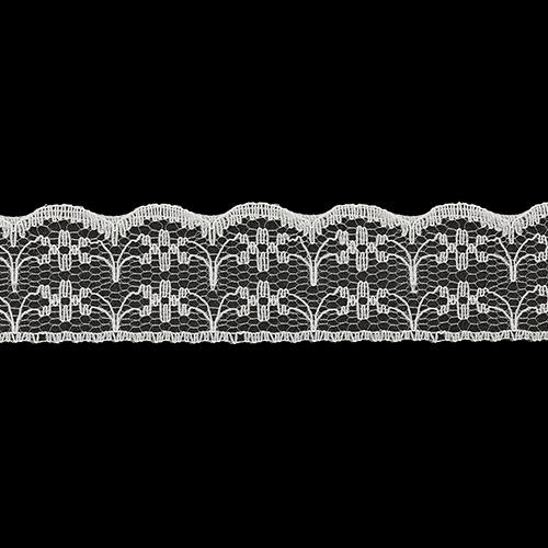 05-38004/22 Кружево нейлон 22мм*25м крем ГР