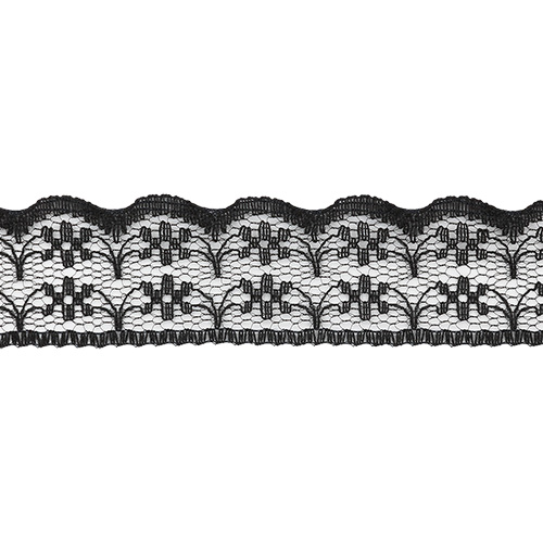 05-38012/22 Кружево нейлон 22мм*25м чер ГР