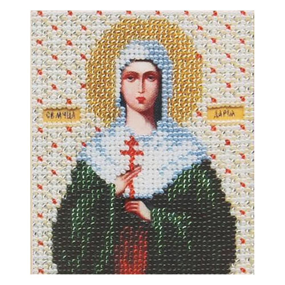 Б-1026 Набор для вышивания бисером 'Чарівна Мить' 'Икона святая мученица Дарья', 11*9 см