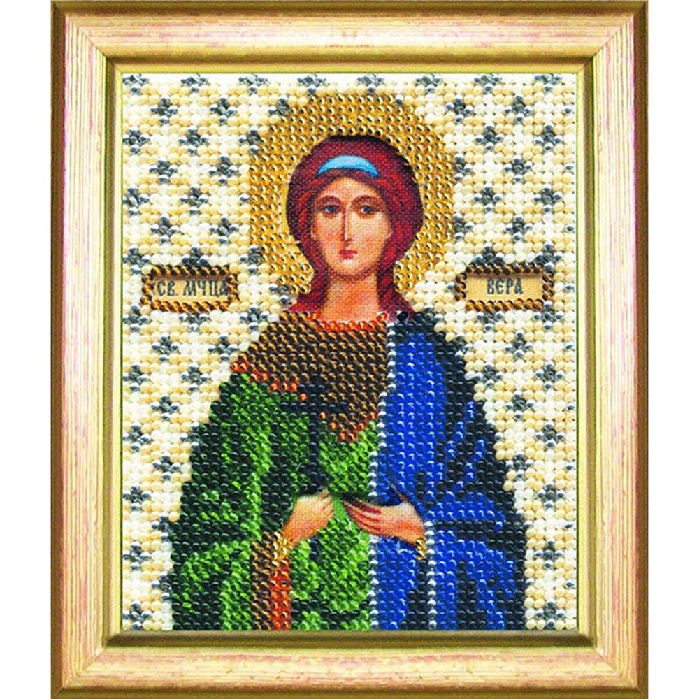 Б-1060 Набор для вышивания бисером 'Чарівна Мить' 'Икона святая мученица Вера' 11*9см