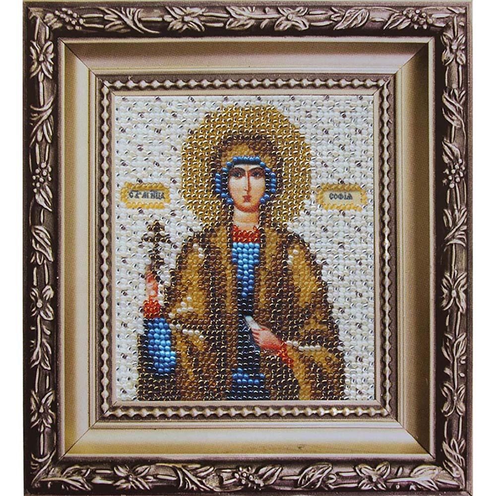 Б-1076 Набор для вышивания бисером 'Чарівна Мить' 'Икона святая мученица София', 11*9 см