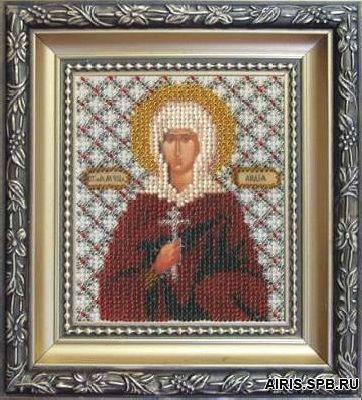 Б-1080 Набор для вышивания бисером 'Чарівна Мить' 'Икона святая мученица Лидия', 11*9 см