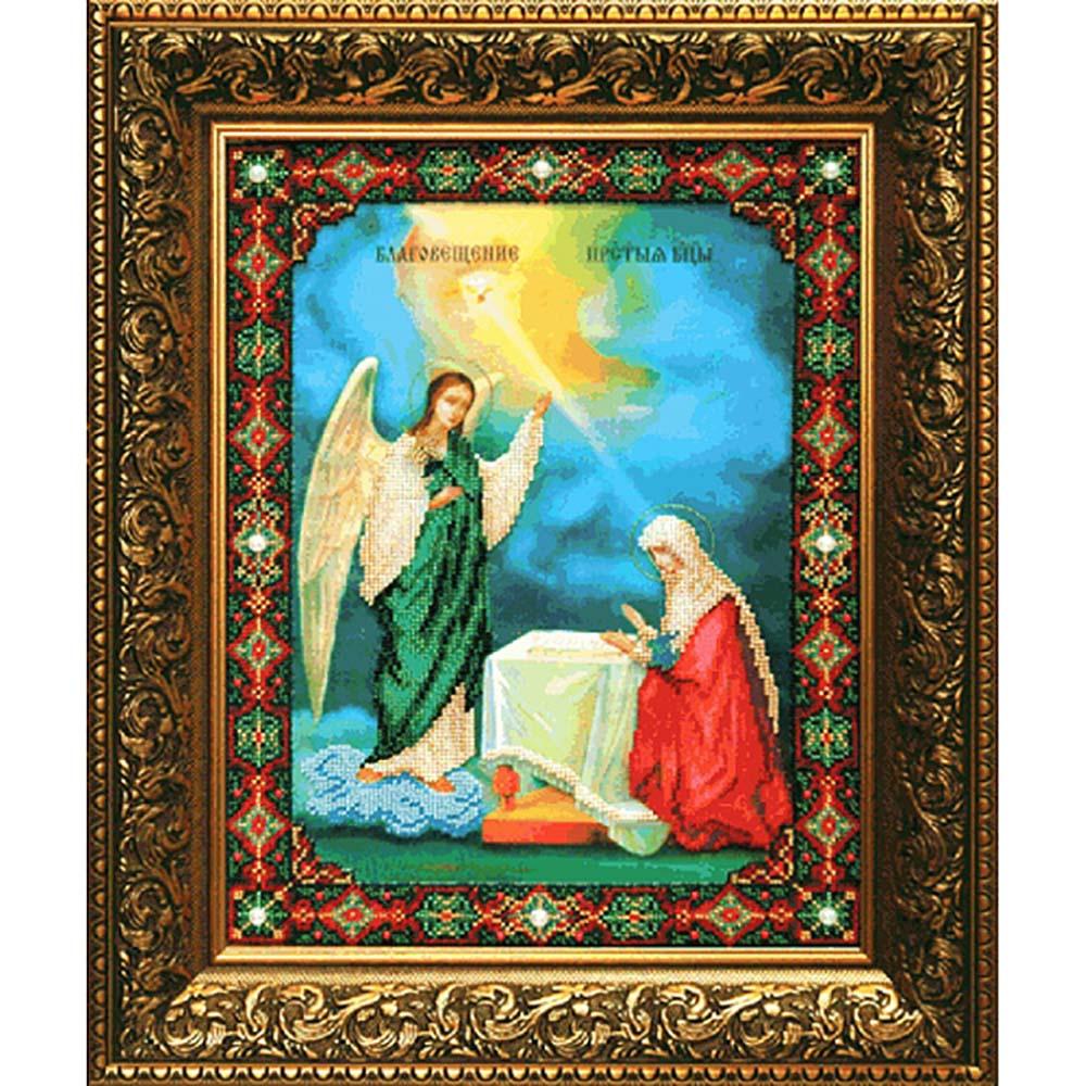 Б-1028 Набор для вышивания бисером Чарівна Мить 'Икона Благовещение Пресвятой Богородицы' 27,3*36,2см