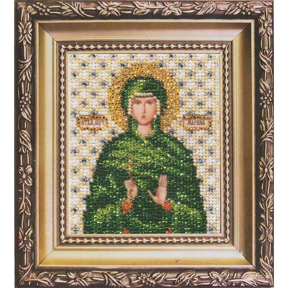 Б-1134 Набор для вышивания бисером 'Чарівна Мить' 'Икона святая мученица Марина', 11*9 см