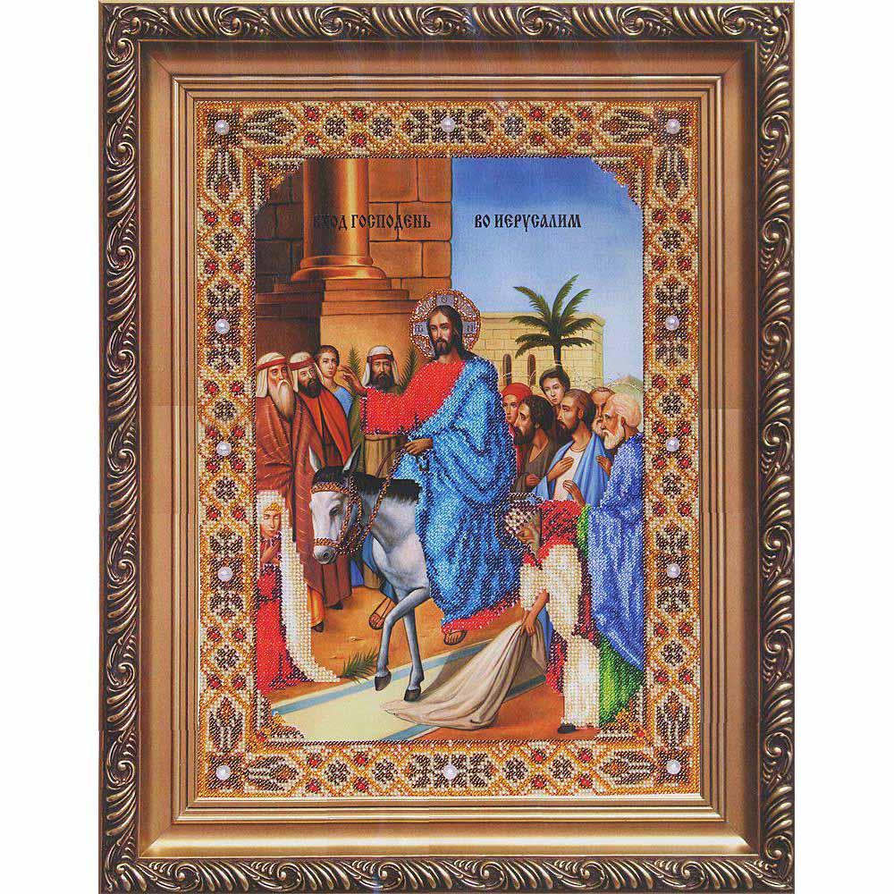 Б-1083 Набор для вышивания бисером Чарівна Мить 'Икона Вход Господень во Иерусалим' 27*37,1см
