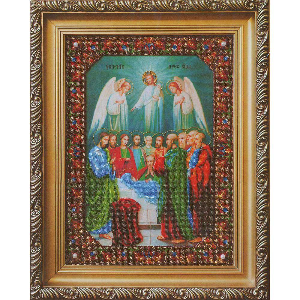 Б-1100 Набор для вышивания бисером Чарівна Мить 'Икона Успение Пресвятой Богородицы' 27,2*37см