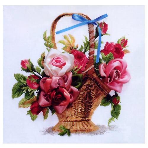 Л-009 Набор для вышивания 'Чарiвна Мить' 'Корзина с розами', 30*30 см