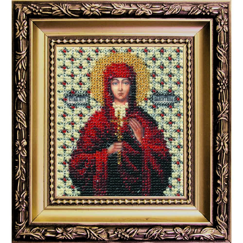 Б-1016 Набор для вышивания бисером 'Чарівна Мить' 'Икона святая мученица Валентина', 9*11 см