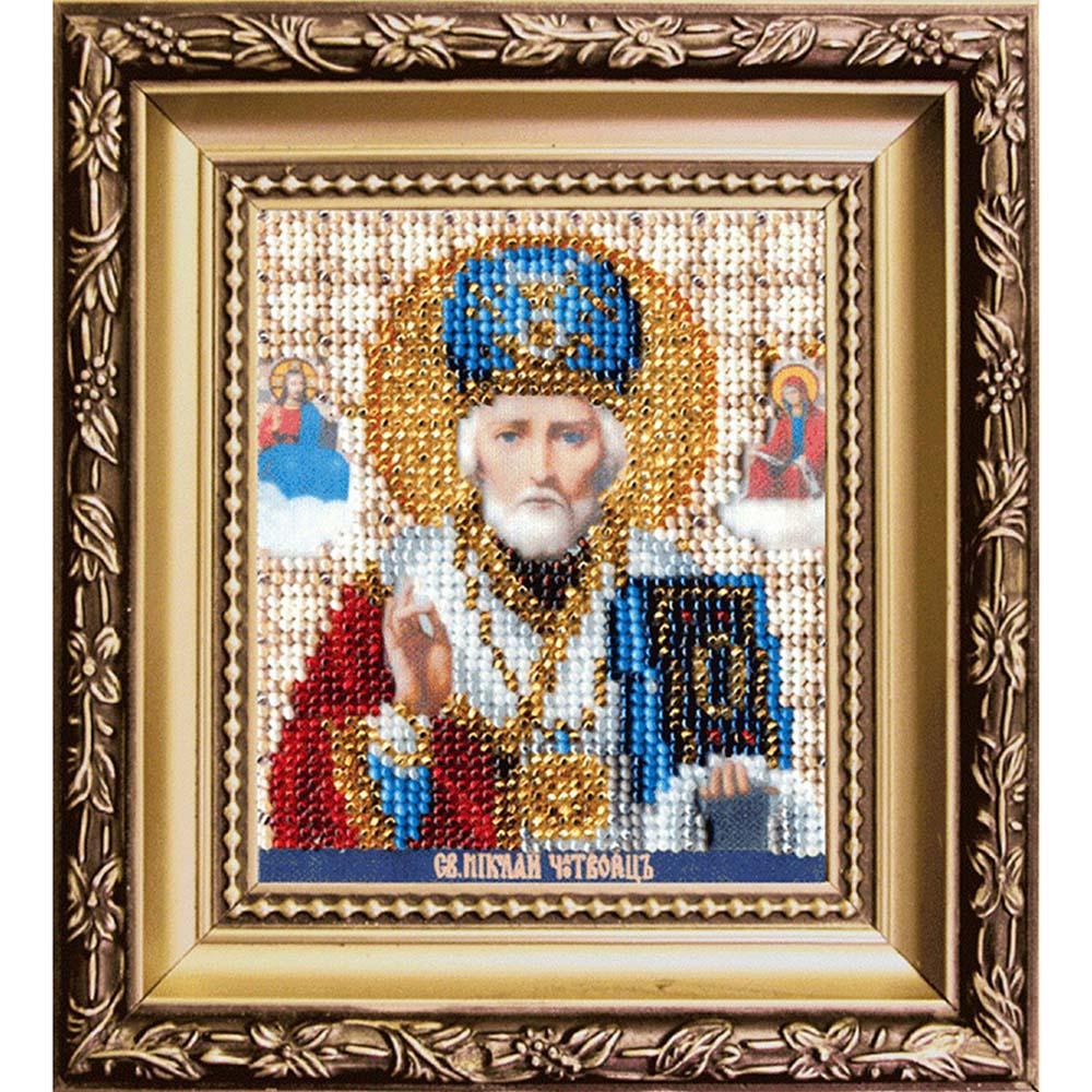 Б-1120 Набор для вышивания бисером 'Чарівна Мить' 'Икона святитель 'Николай Чудотворец', 9*11 см