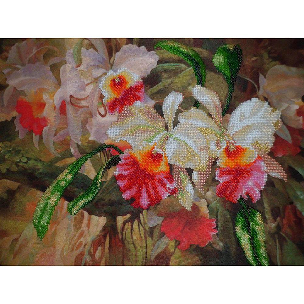 Б-601 Набор для вышивания бисером 'Чарівна Мить' 'Орхидеи', 29*39 см