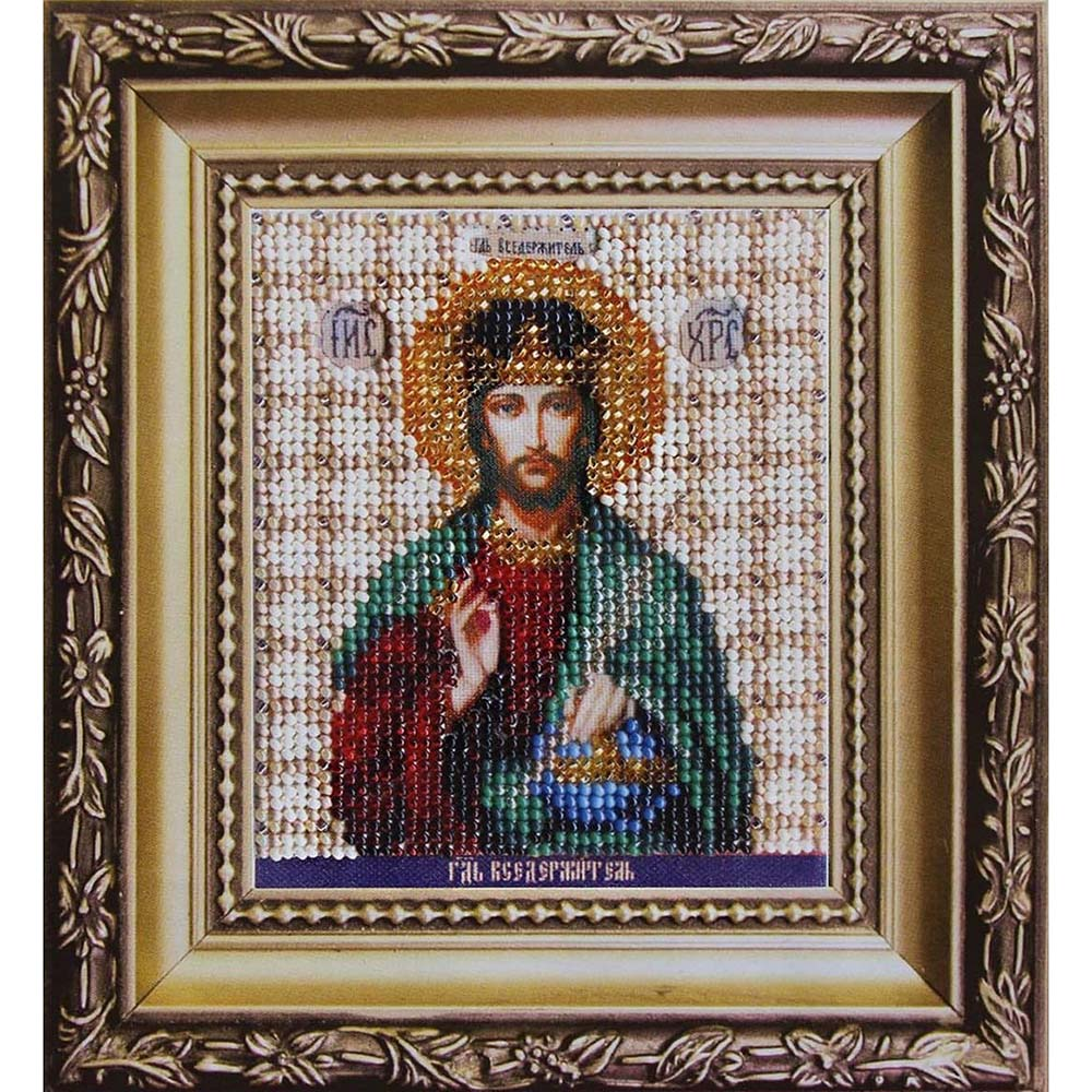 Б-1119 Набор для вышивания бисером 'Чарівна Мить' 'Икона Господь Иисус Христос', 9*11 см