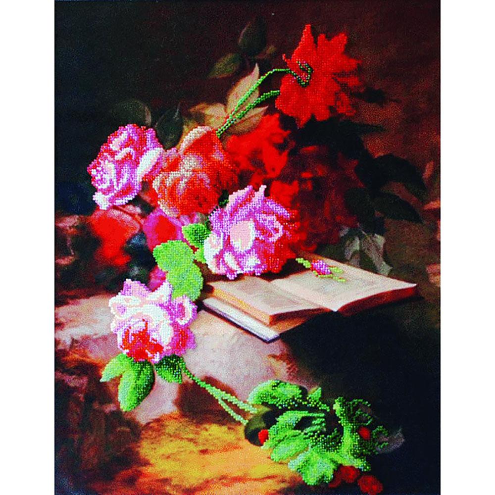 Б-611 Набор для вышивания бисером 'Чарівна Мить' 'Цветочная поэзия', 31*40 см