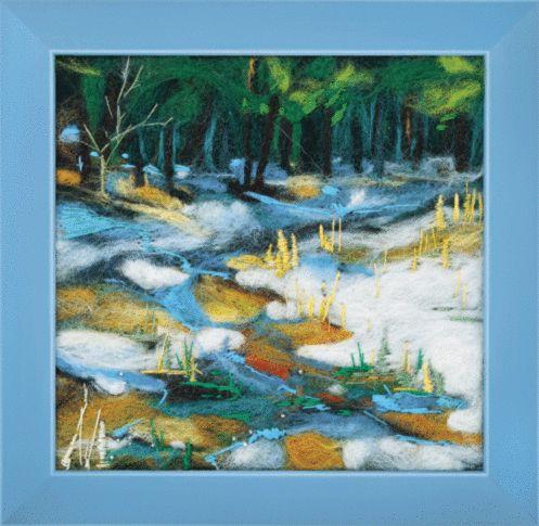 В-048 Набор для валяния картины 'Ручей' 17*17см Чарівна мить