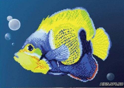 СБ-057 Схема для вышивания бисером на авторской канве 'Чарівна мить', 30*22 см