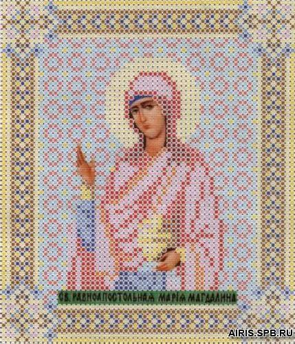 СБИ-015 Схема для вышивания бисером иконы 'Чарівна мить' 'Мария', 12*14 см