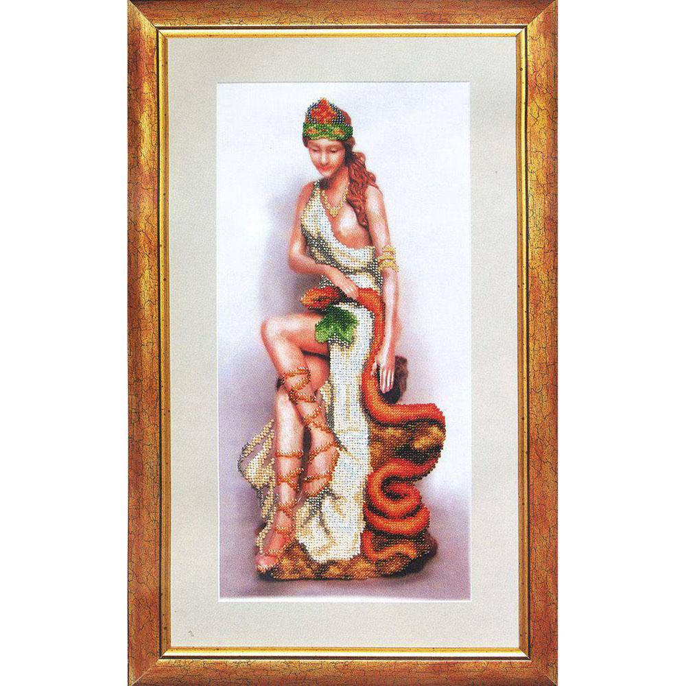 Б-640 Набор для вышивания бисером 'Чарівна Мить' 'Богиня здоровья Гигиея', 18,5*38,8 см