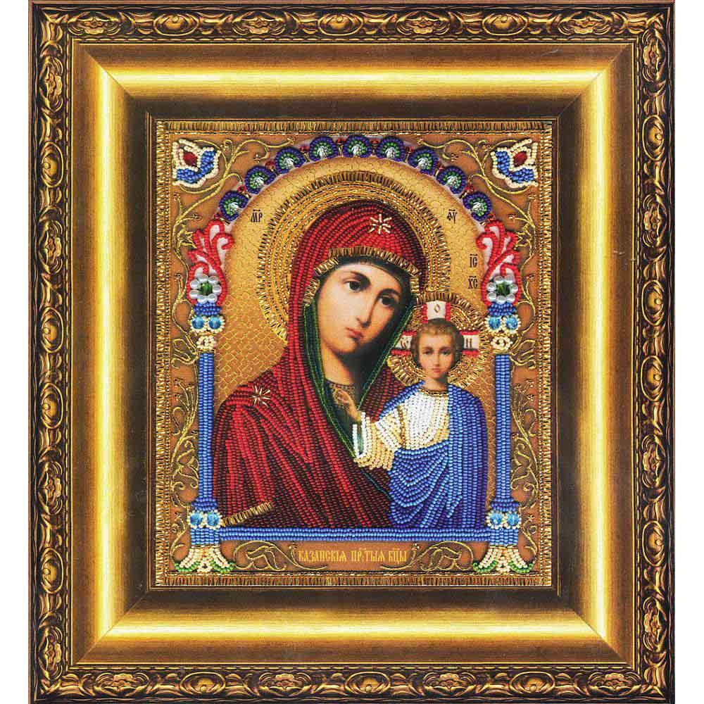 Б-1204 Набор для вышивания бисером 'Чарівна Мить' 'Икона Божьей Матери Казанская', 20,3*23,5 см