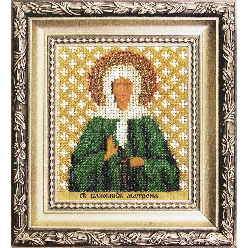 Б-1217 Набор для вышивания бисером 'Чарівна Мить' 'Икона святая блаженая Матрона Московская', 9*11 см