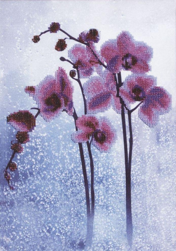 Б-673 Набор для вышивания бисером Чарівна Мить 'Дикая орхидея' 21*30см