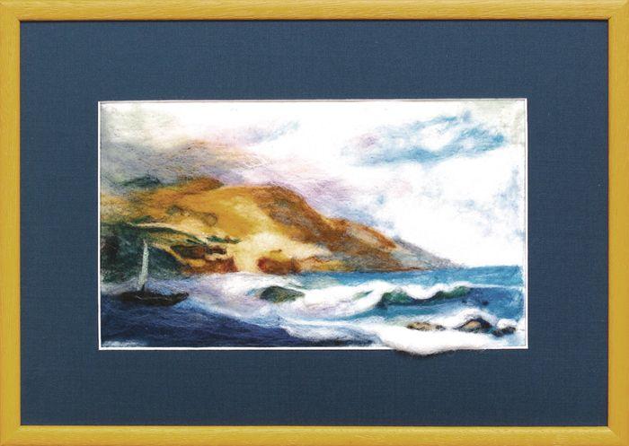 В-065 Набор для валяния картины 'Морской пейзаж' 15,5*26см Чарівна мить