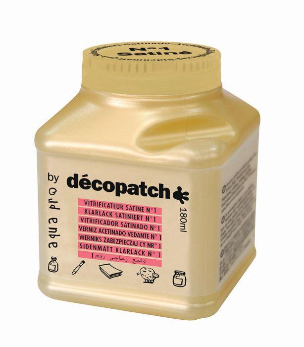 Лак защитный сатин №1 Decopatch-Aquapro Satine, золото, 180 мл