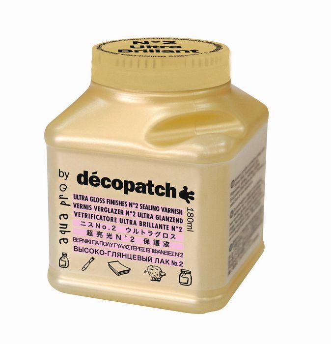 Лак защитный ультра-глянец №2 Decopatch-Aquapro Ultra Brilliant, золото, 180 мл