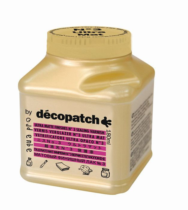 Лак защитный ультра-матовый №3 Decopatch-Aquapro Ultra Matt, золото, 180 мл
