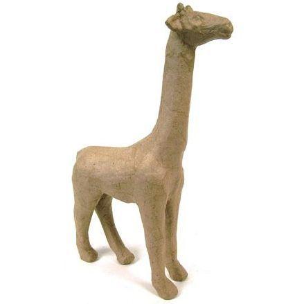 Фигурка из папье-маше, объемная, мал, жираф, 7*19*28 см