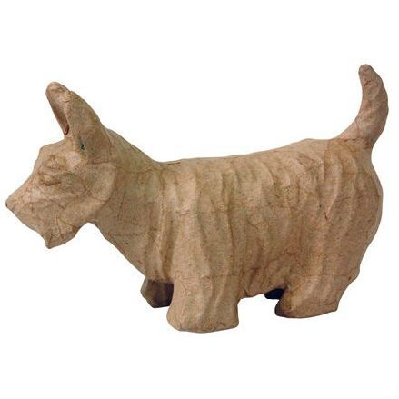 Фигурка из папье-маше, объемная, мал, скотч-терьер, 8*23*14,5 см