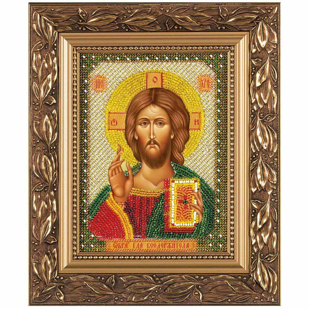 С6001 Набор для вышивания бисером 'Нова Слобода' 'Христос Спаситель', 13x17 см