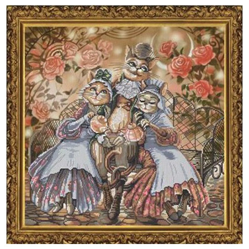 СР1144 Набор для вышивания 'Нова Слобода' 'Дружное семейство', 36х36 см