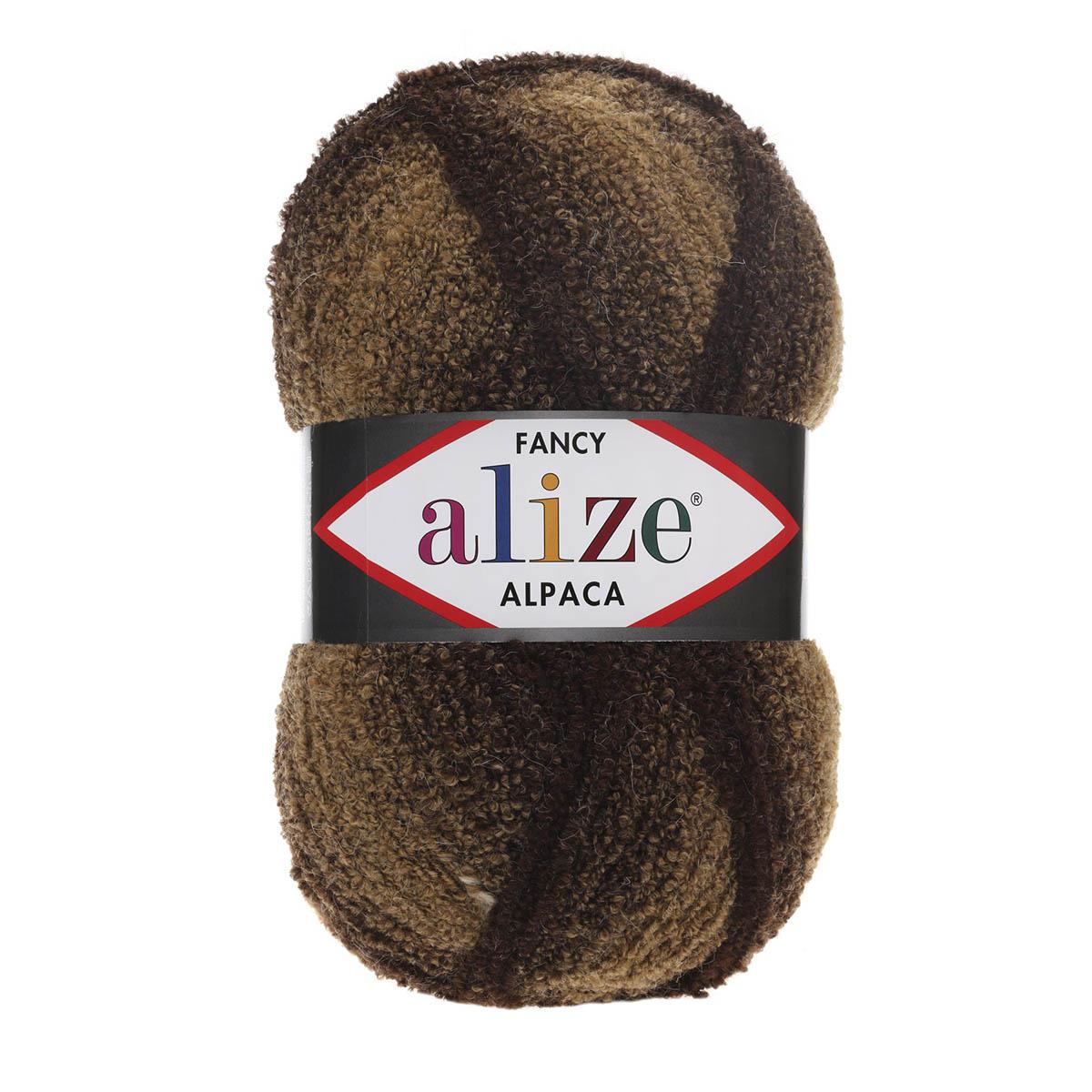 Пряжа ALIZE 'Rainbow (Альпака Фэнси)' 350гр. 875м (15%шерсть, 15%альпака, 60%акрил, 10%полиэстер) ТУ