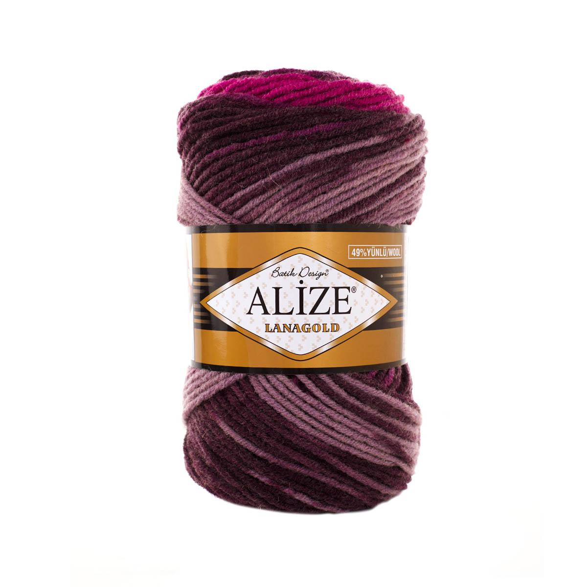 Пряжа ALIZE 'Lanagold Batik' 100гр.,240м (49%шерсть, 51%акрил)