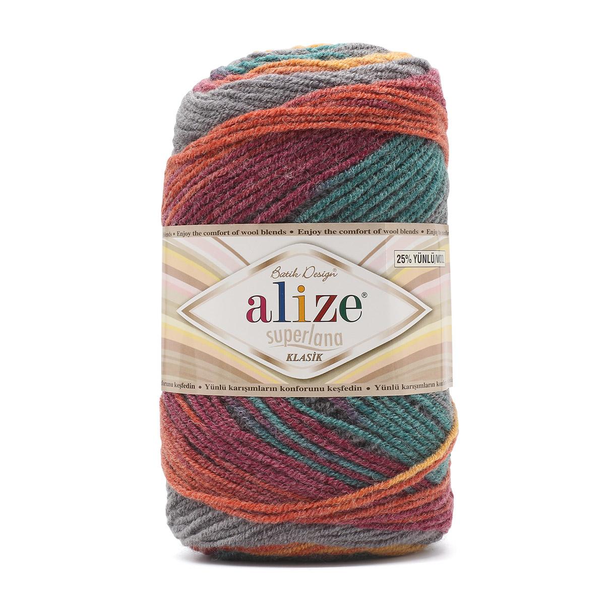 Пряжа ALIZE 'Superlana klasik batik' 100гр. 280м. (75% акрил, 25%шерсть) ТУ