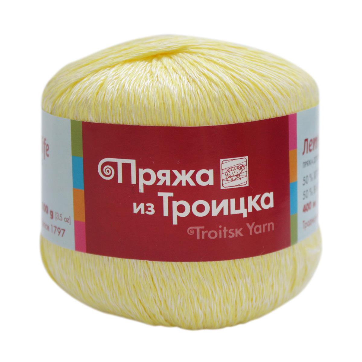 Пряжа из Троицка 'Летняя' (50%хлопок, 50%вискоза) (2764 мулине (отб./лимон))