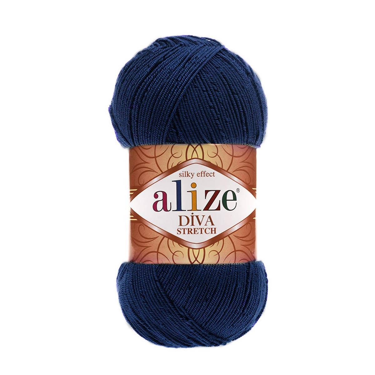 Пряжа ALIZE 'Diva stretch' 100гр. 400м. (92% микроакрил, 8%эластик)