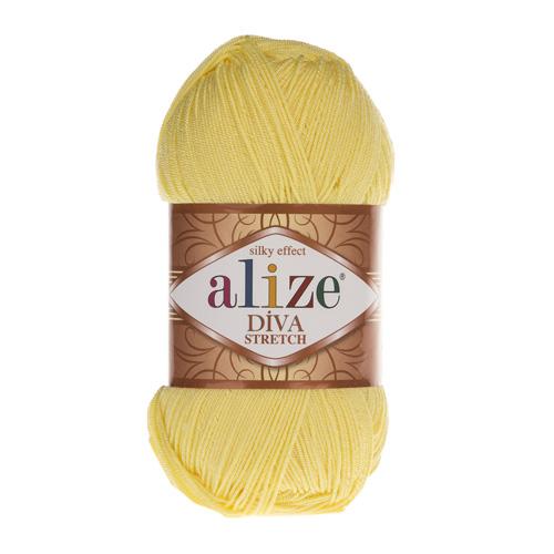 Пряжа ALIZE 'Diva stretch' 100гр. 400м. (92% микроакрил, 8%эластик) (643 лимон) фото