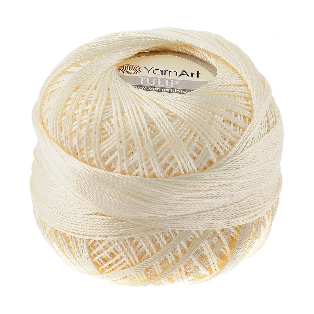 Пряжа YarnArt 'TULIP (Ирис)' 50г 250м 100% м/ф (437 светло-желтый) фото