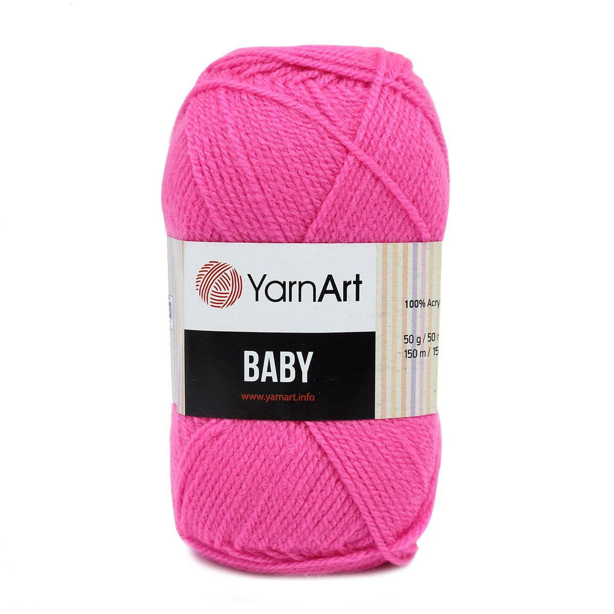 Пряжа YarnArt 'Baby' 50гр. 150м (100%акрил) (174 мальва) фото