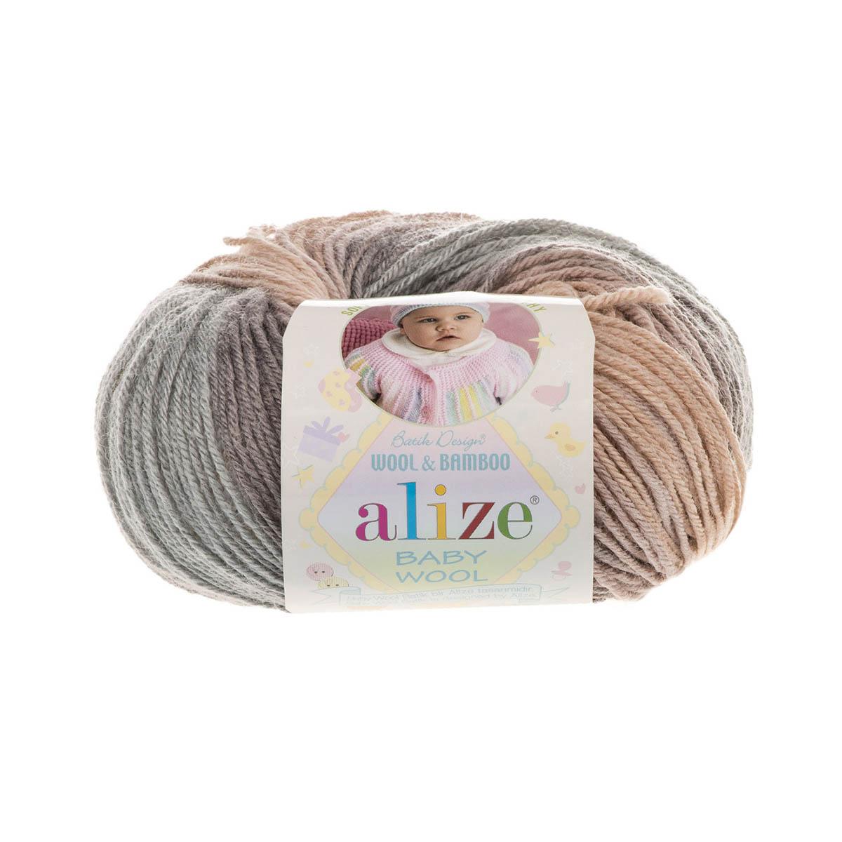 Пряжа ALIZE 'Baby wool batik' 50гр. 175м (20%бамбук, 40%шерсть, 40%акрил) (4726 секционный) фото