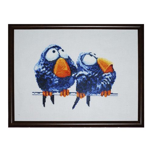 1018 Набор для вышивания Alisena 'Про птичек' 17*15см
