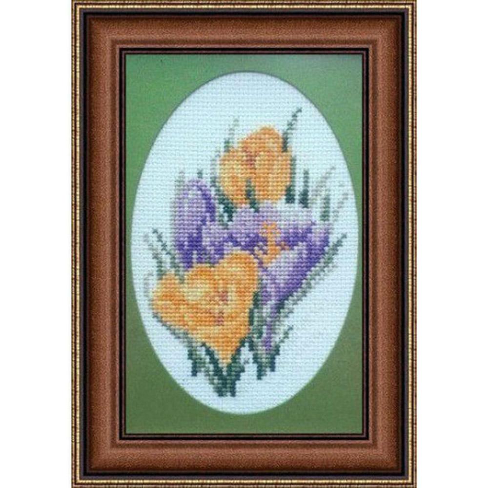 1025 Набор для вышивания Alisena 'Первоцвет', 7*11 см