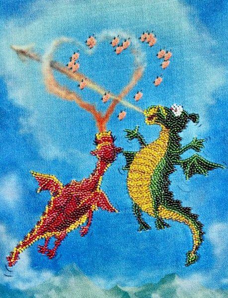 В1007 канва с рисунком Alisena (Дракончики)