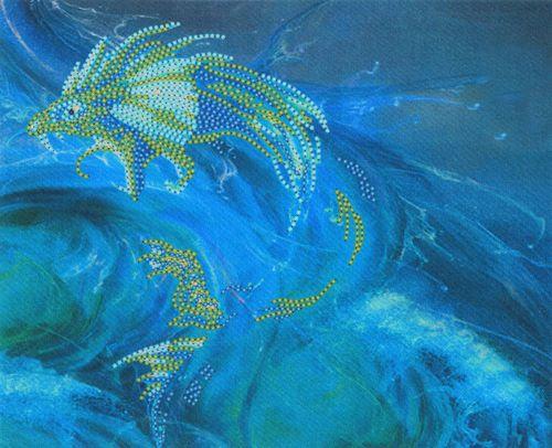 В1014 Канва с рисунком Alisena (Дракон воды)