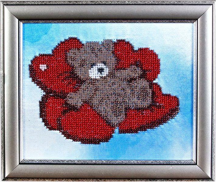 ВН1000 Набор для вышивания Alisena 'Медвежонок', 19*16 см