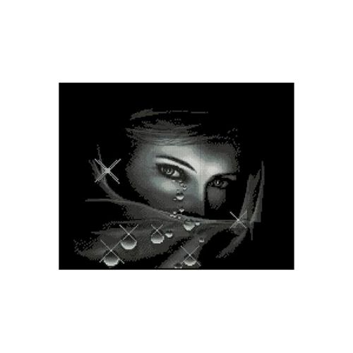1054 Набор для вышивания Alisena 'Взгляд', 24*21 см