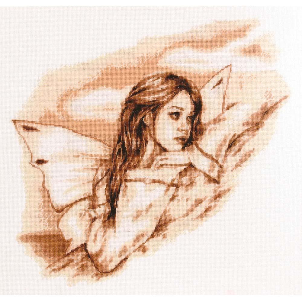 1069 Набор для вышивания Alisena 'Ангел вдохновение' 30*33см