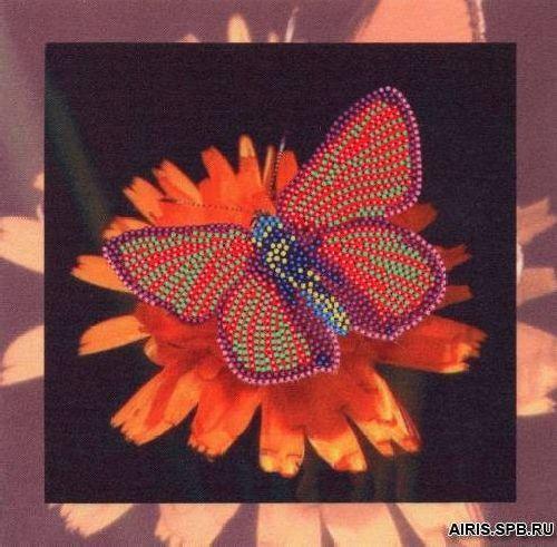 В1039 Канва с рисунком Alisena 'Бабочка', 17,5*17,5 см